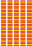 Spain Federal Flag Stickers - 65 per sheet